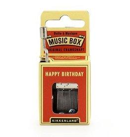 Kikkerland Boîte à musique à manivelle Happy birthday