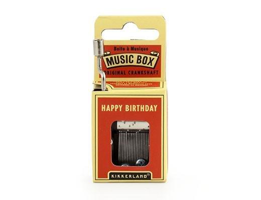Kikkerland Kikkerland Crankhand musical box Happy birthday