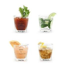 Kikkerland Verres à cocktails (ensemble de 4 verres)