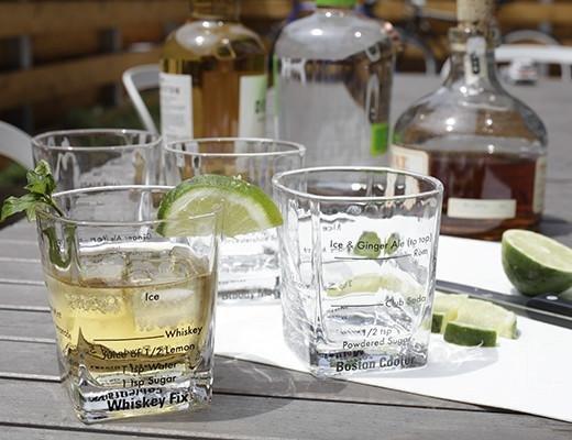 Kikkerland Kikkerland Bartending glasses Set of 4