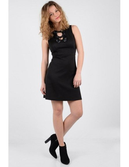 Molly Bracken Molly Bracken Ladies woven dress Black