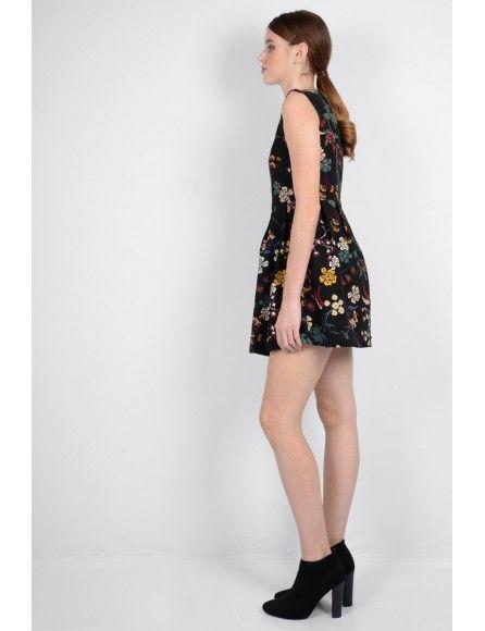 Molly Bracken Molly Bracken robe floral noire