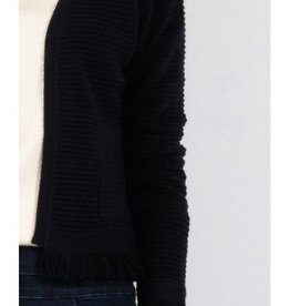 Molly Bracken Ladies knitted jacket Black