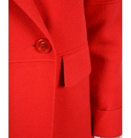 Molly Bracken Ladies knitted coat Red