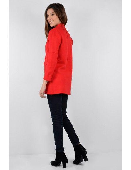 Molly Bracken Molly Bracken Ladies knitted coat Red