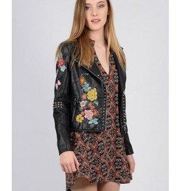 Molly Bracken Ladies woven jacket Black