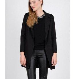 Molly Bracken Ladies woven coat Black