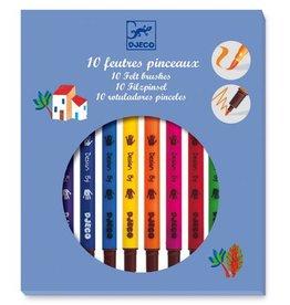 Djeco Djeco 10 feutres pinceaux / Classique