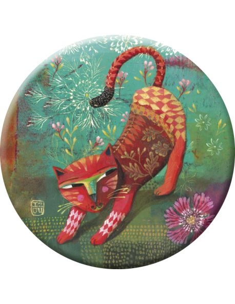 Izou Magnet Red Cat