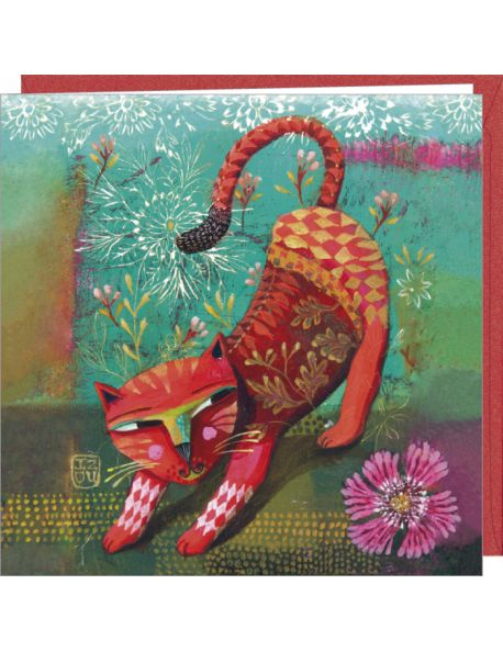 Izou Double card Red cat