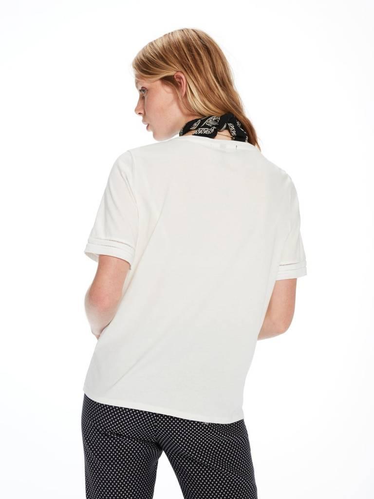 Maison Scotch Maison Scotch T-shirt with ladder point stripes