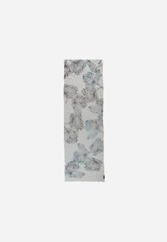 Fraas Fraas Écharpe avec imprimé de fleurs en pur coton