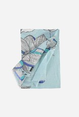 "Fraas Fraas Linen-blend scarf with flower print ""Made in Italy"""