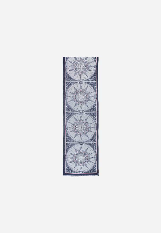 Fraas Fraas Écharpe avec motif en pur coton