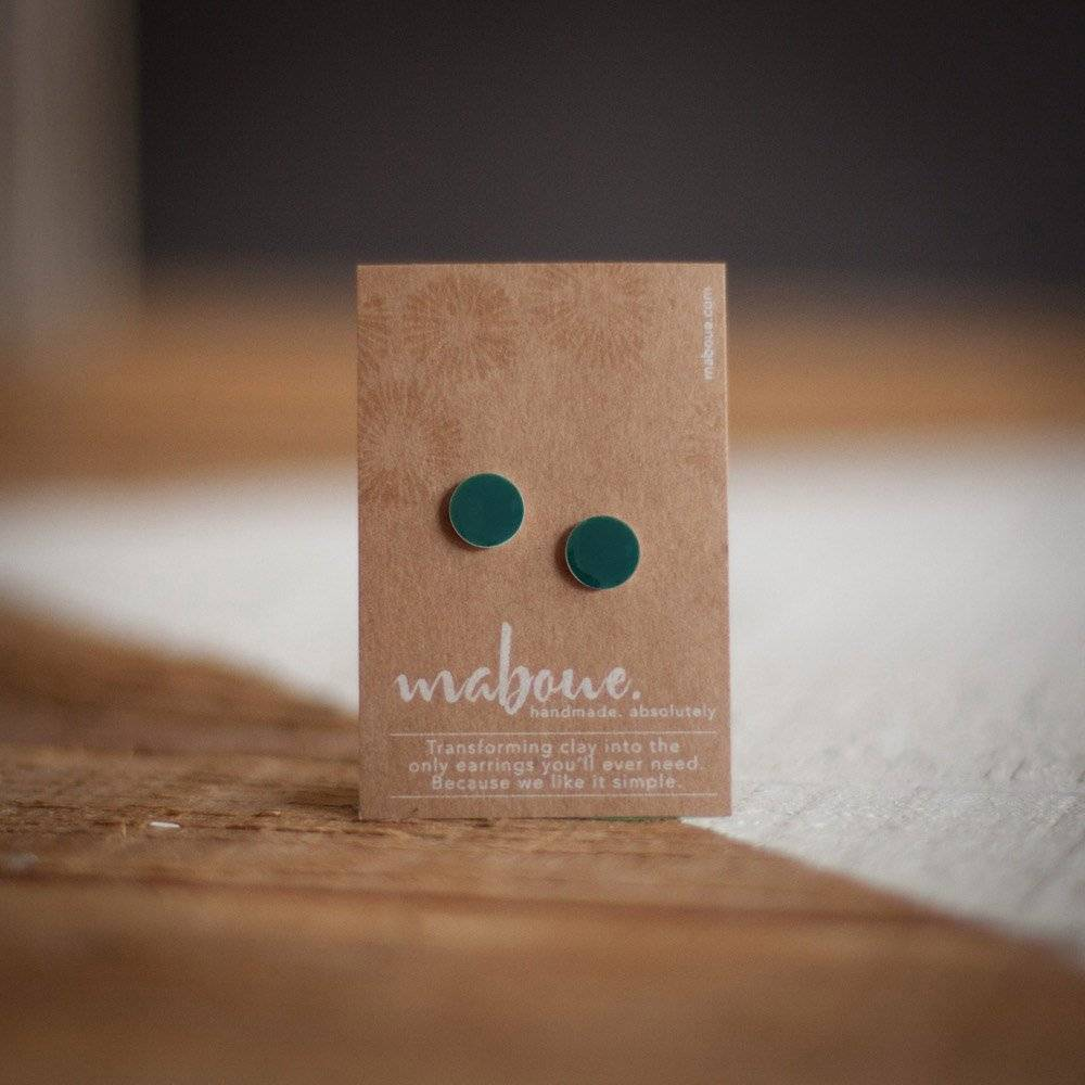 Maboue Maboue Teal studs