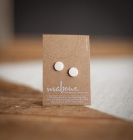 Maboue Maboue Glossy white porcelain studs