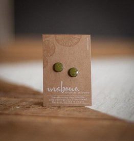 Maboue Studs en grès vert olive