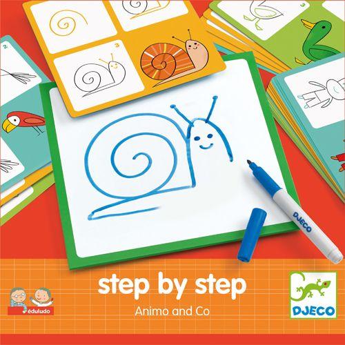 Djeco DJ08319 Eduludo / Step by step animaux