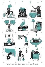 Saboothroyd Linge à vaisselle - Chat