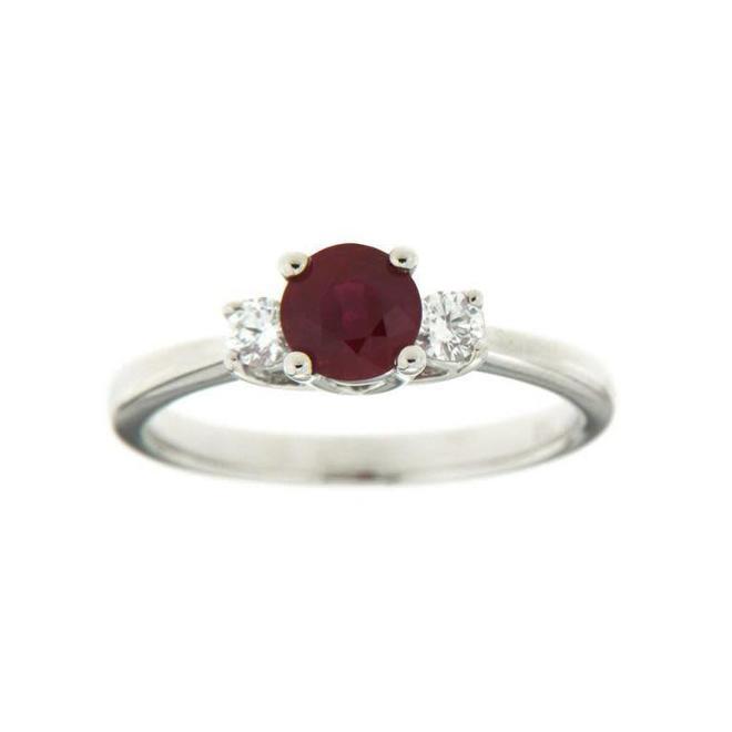Ruby and diamond trinity ring