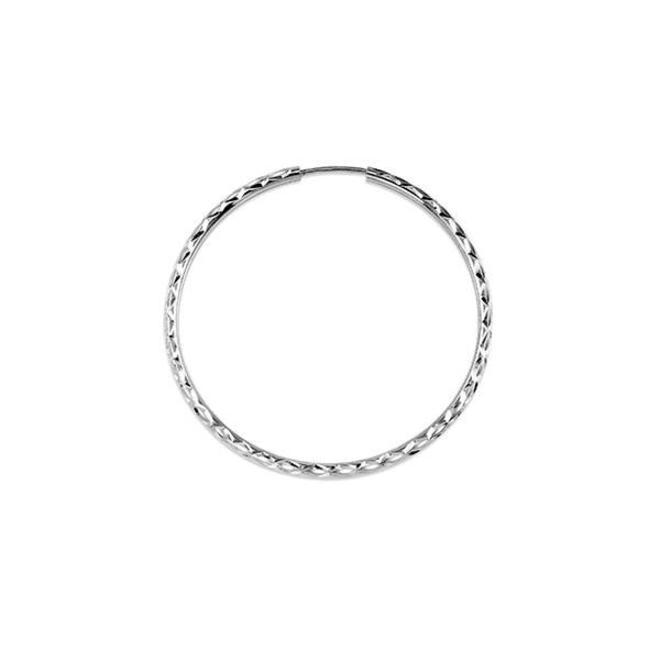 Diamond cut hoop earrings - medium