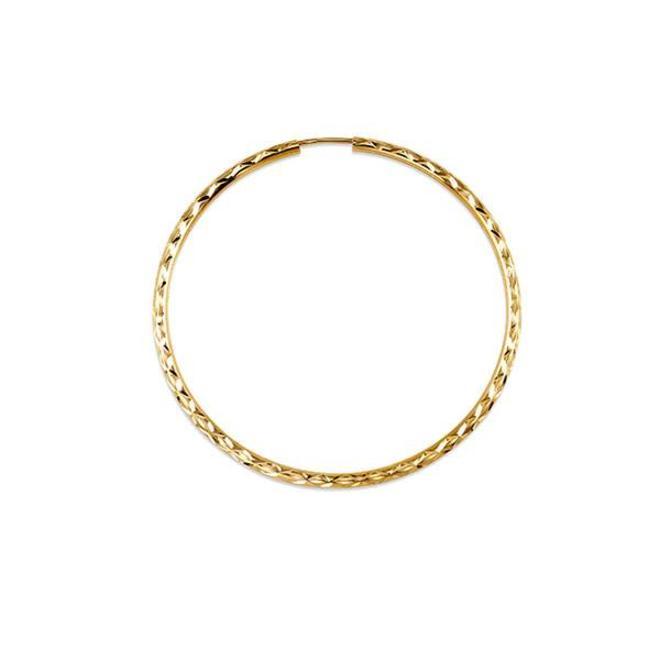 Diamond cut hoop earrings - large