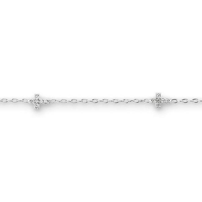Children's cubic zirconia cross bracelet