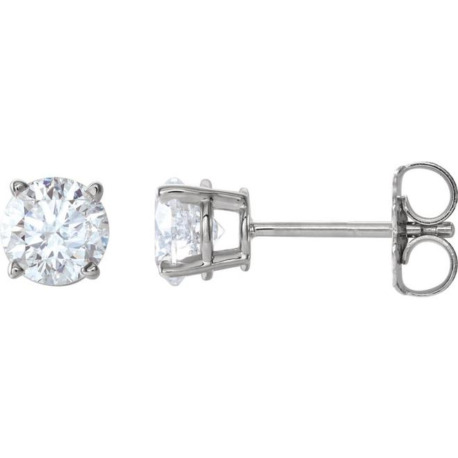 Classic diamond stud earrings - 0.75ct total weight