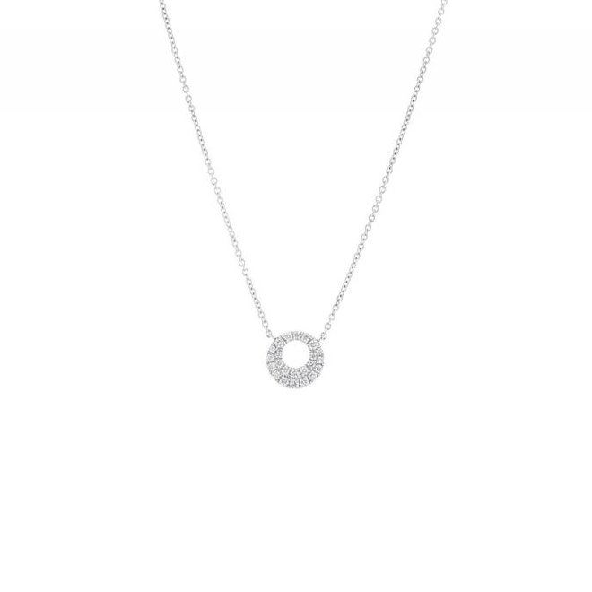 Open diamond circle pendant