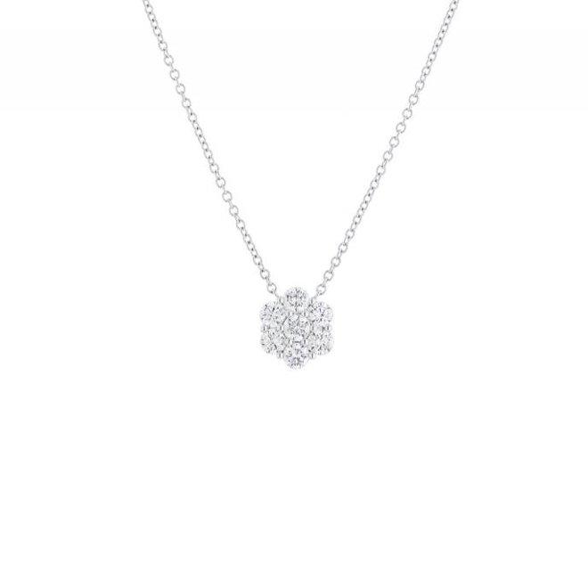 Diamond flower pendant-large