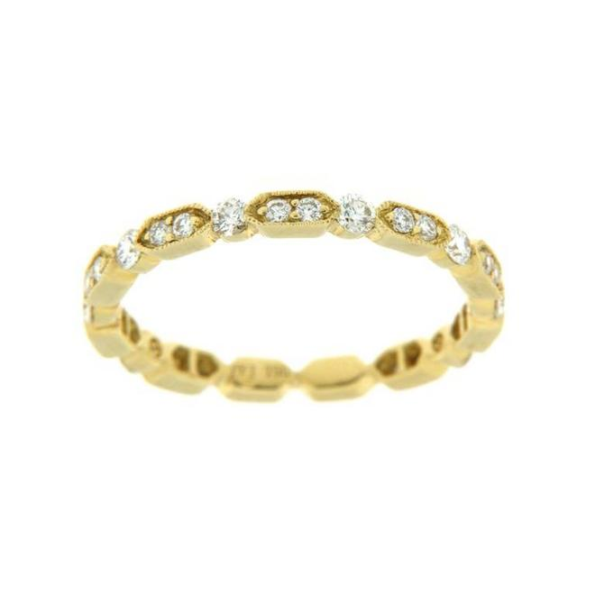 Yellow gold diamond stackable band