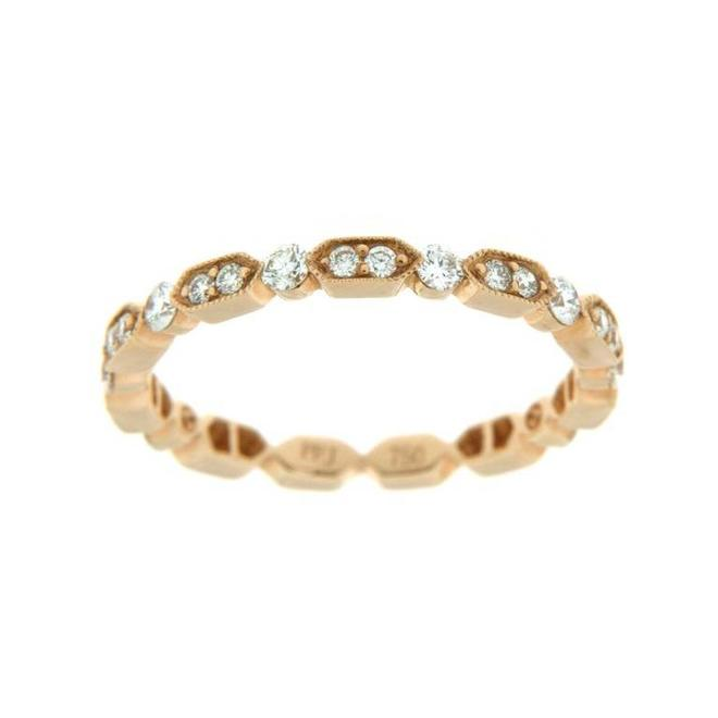 Rose gold diamond stackable band