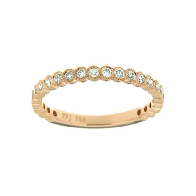 Rose gold bezel set diamond stackable band