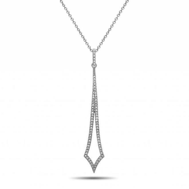 Diamond arrow pendant