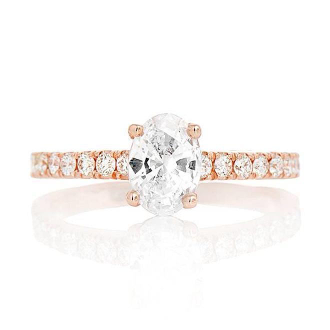 The Emilia - custom oval engagement ring