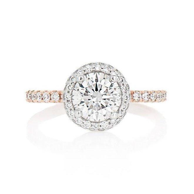 The Emmerson - custom diamond halo engagement ring