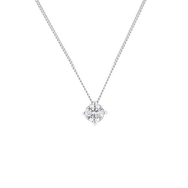 Floating diamond solitaire pendant-medium
