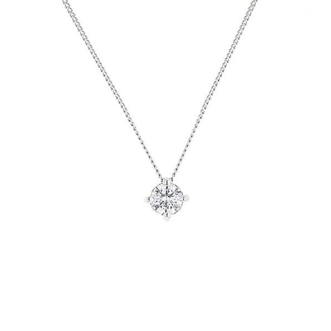 Floating diamond solitaire pendant-extra large