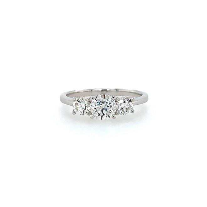 The Stella - trinity diamond engagement ring