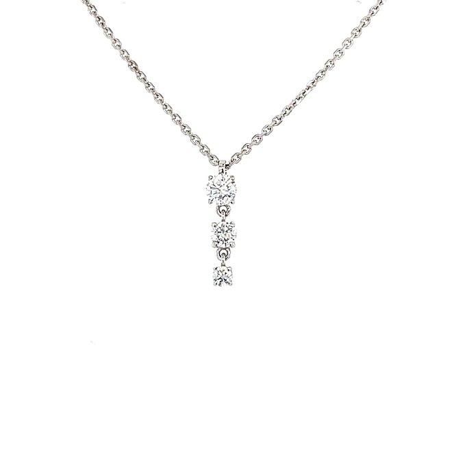 Diamond trinity pendant
