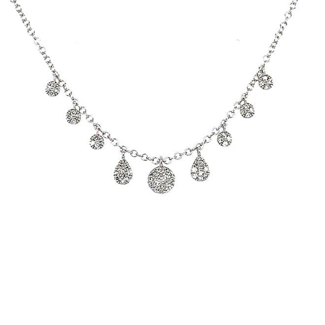 Pave diamond drop necklace