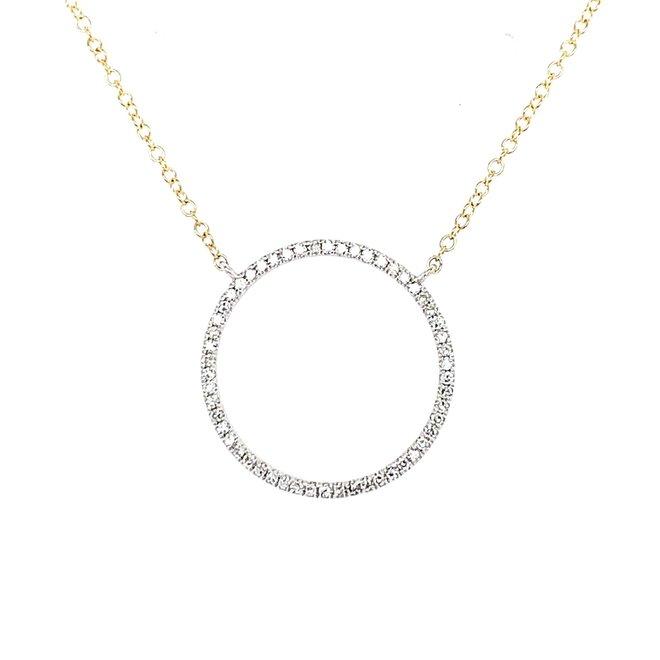 Diamond Open Circle Pendant