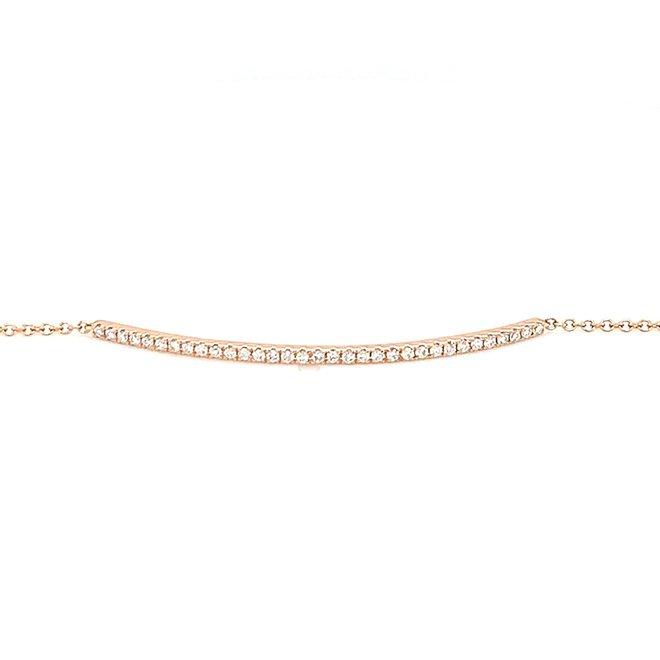 Dainty diamond bar bracelet-rose