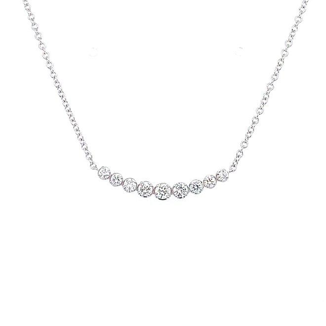 Nine diamond necklace-white gold