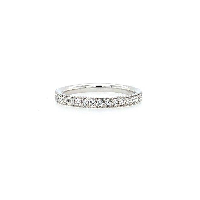 White gold diamond pave band