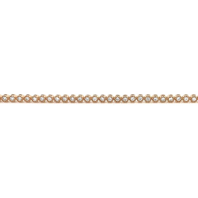 Bezel set diamond tennis bracelet-rose