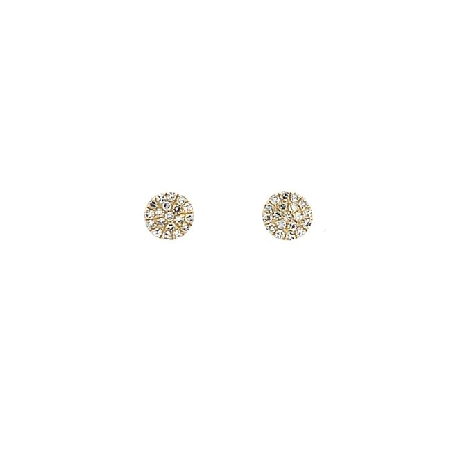 Yellow Gold Disc Earrings-Petite