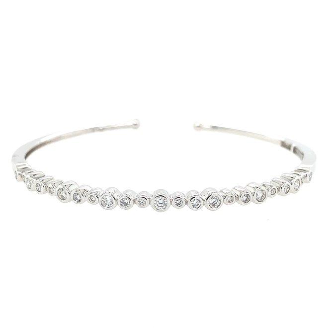 Diamond bezel set bangle bracelet