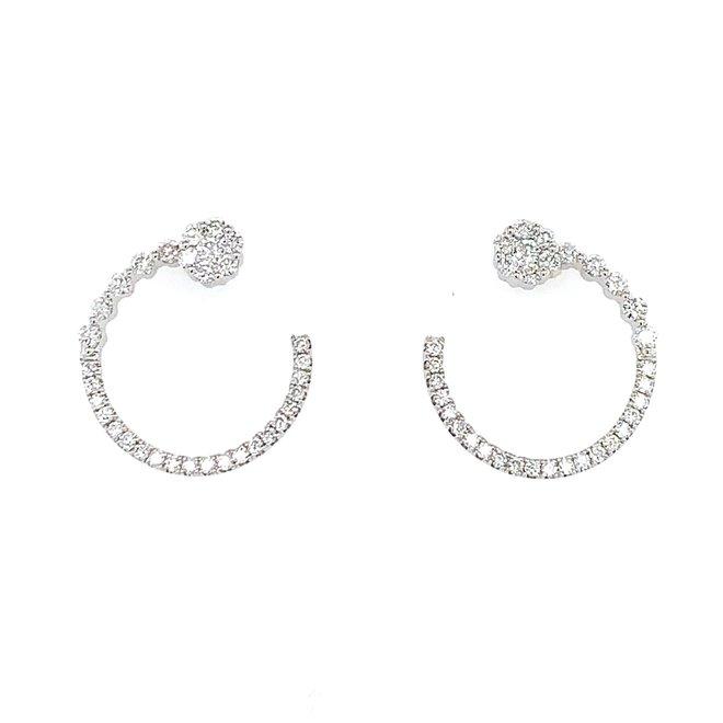 Fancy diamond circle earrings