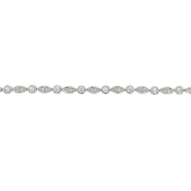 Ladies contemporary diamond tennis bracelet